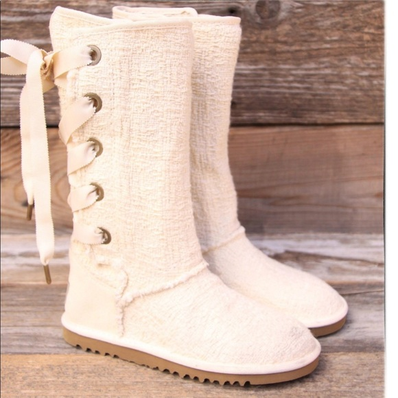 653f7c94f15 White Heirloom Lace Ugg Boots